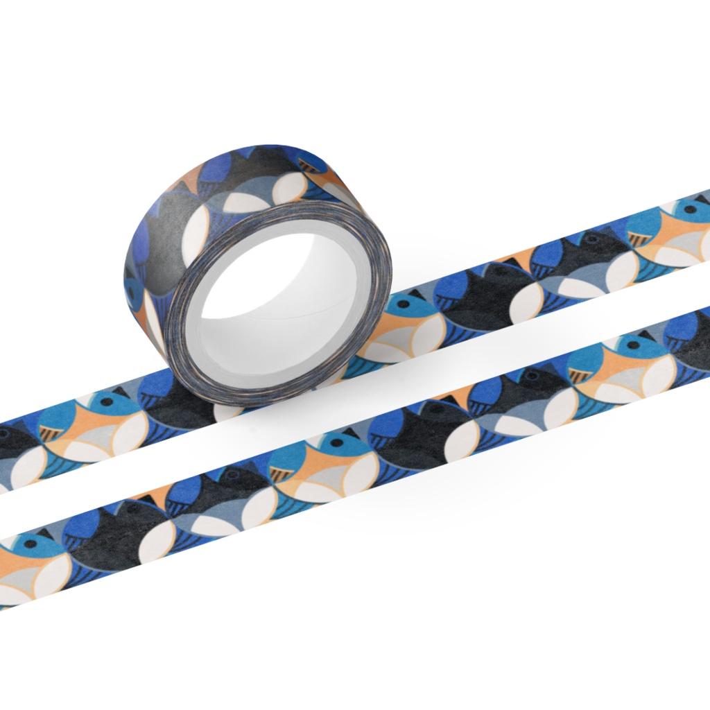 瑠璃鳥七宝紋 Masking tape