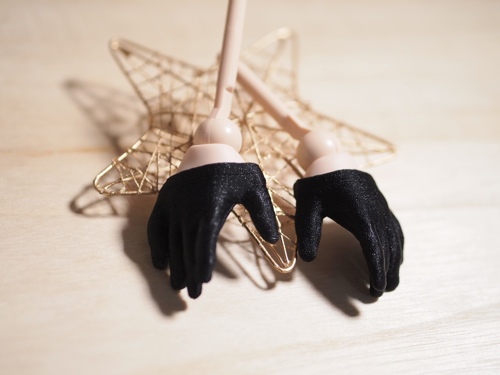 【DD】ノーマルハンド手袋(ハーフ黒)
