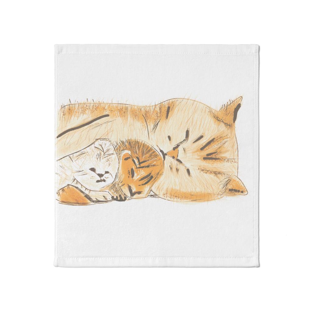 猫の親子のタオル
