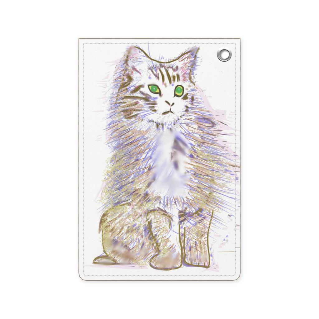 セレブな猫のパスケース