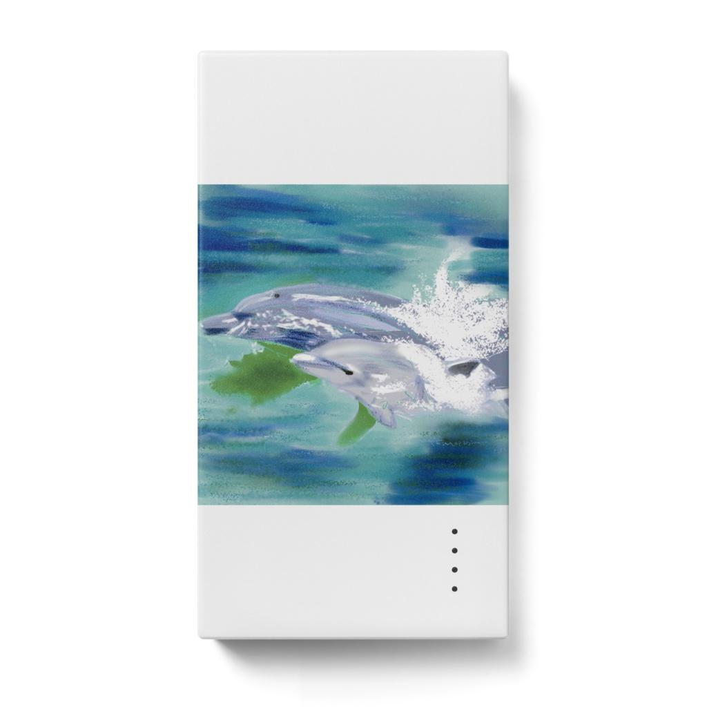 イルカの親子のモバイルバッテリー