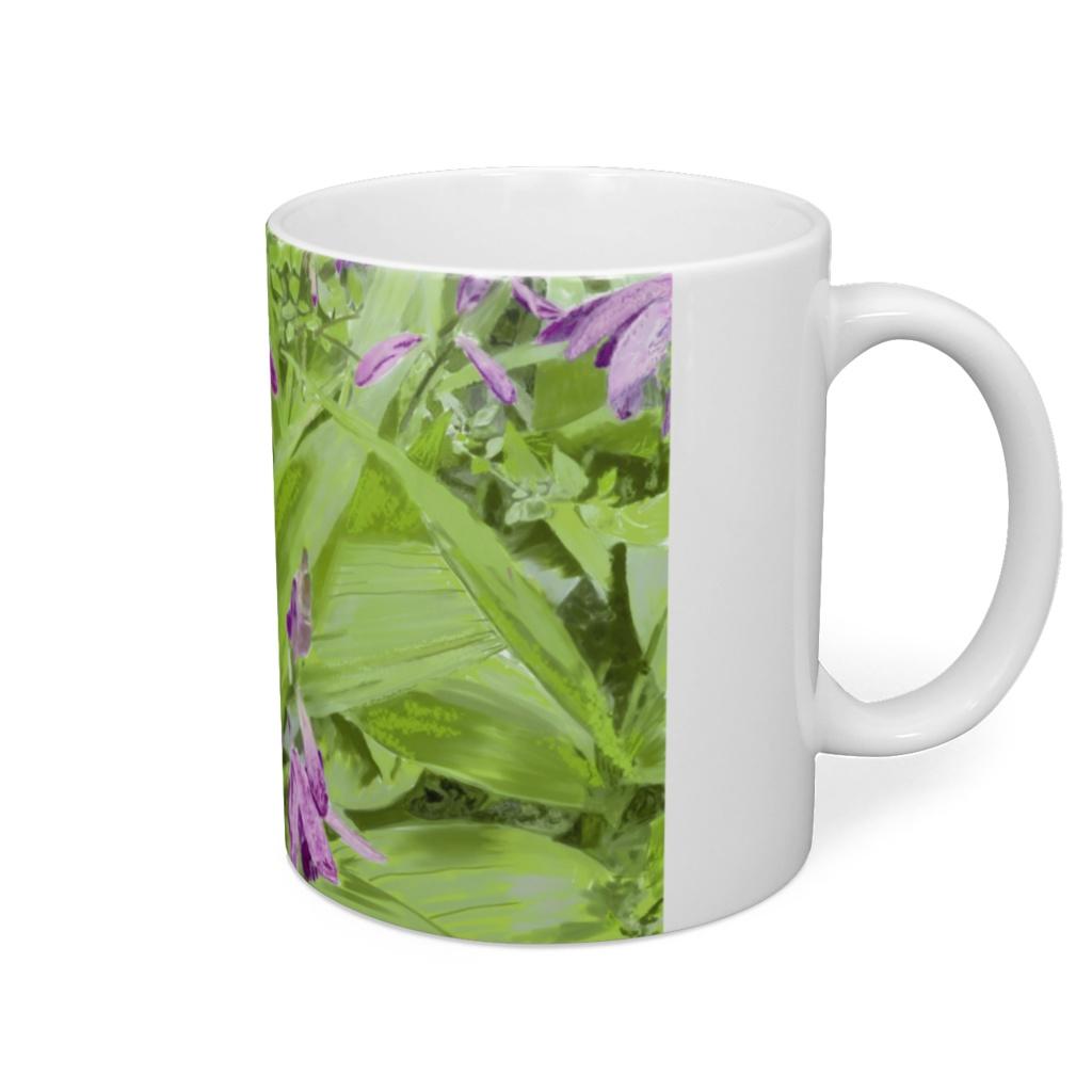 紫蘭のマグカップ