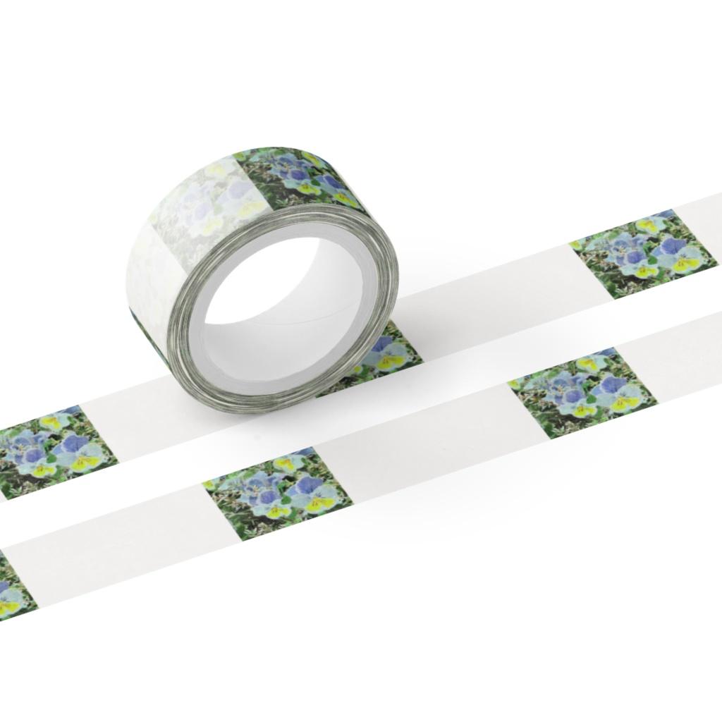 三色すみれのマスキングテープ - テープ幅 15mm