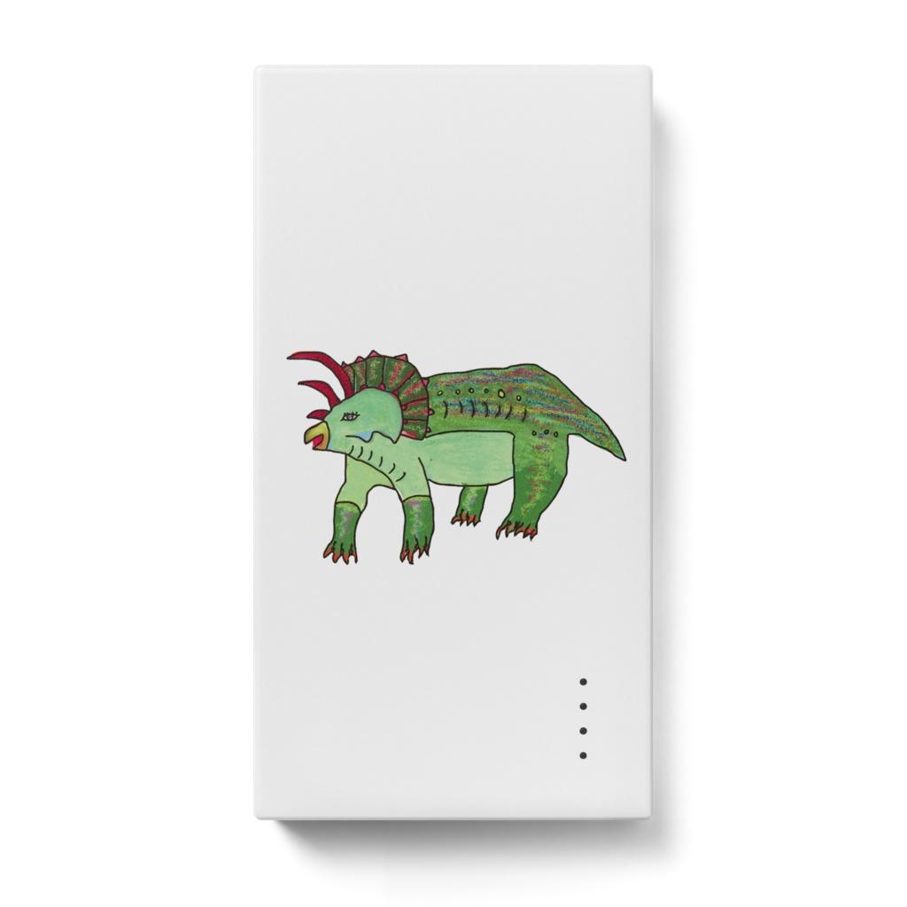恐竜 トリケラトプスのモバイルバッテリー