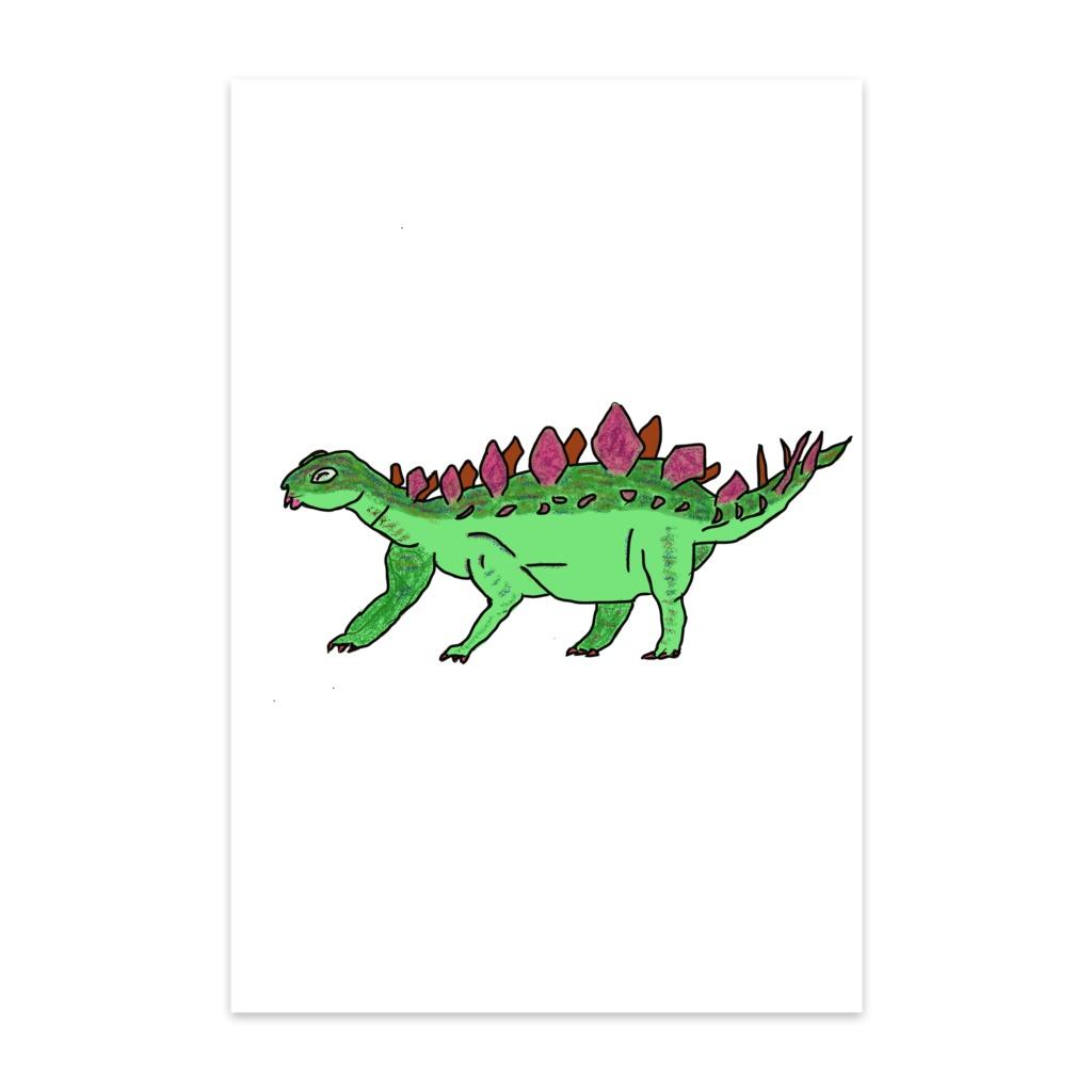 恐竜 ケントロサウルスのポストカード