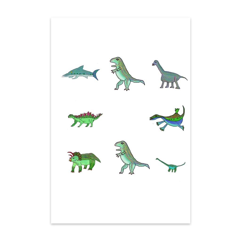 恐竜の仲間達のポストカード