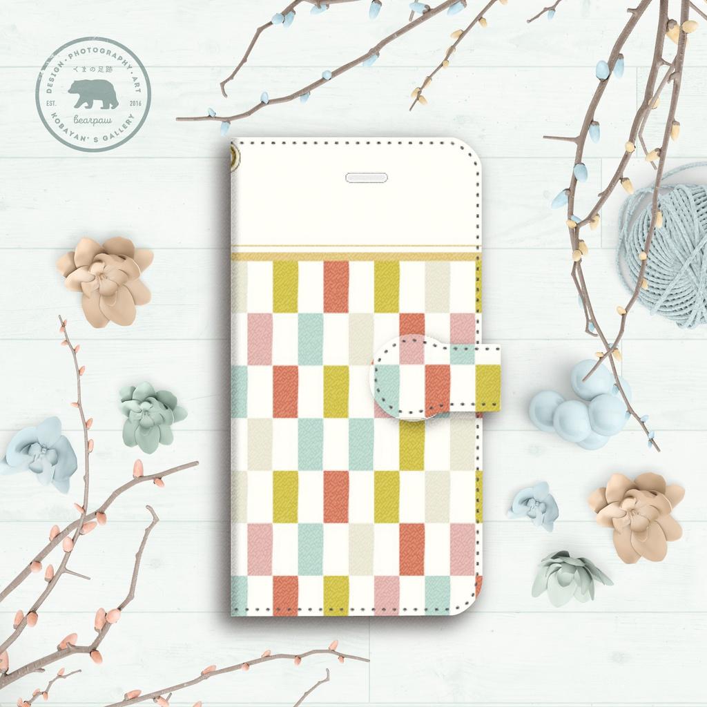 春色町娘の着物布団 手帳型iPhoneケース - iPhone5/5s・6/6s・6Plus/6sPlus・7/7Plus・8/8Plus・X/XS・XR・XS Max
