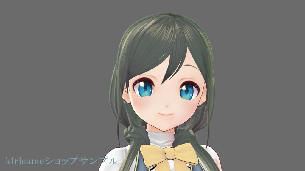 【VRoidヘアプリセット】ゆるループツインテ
