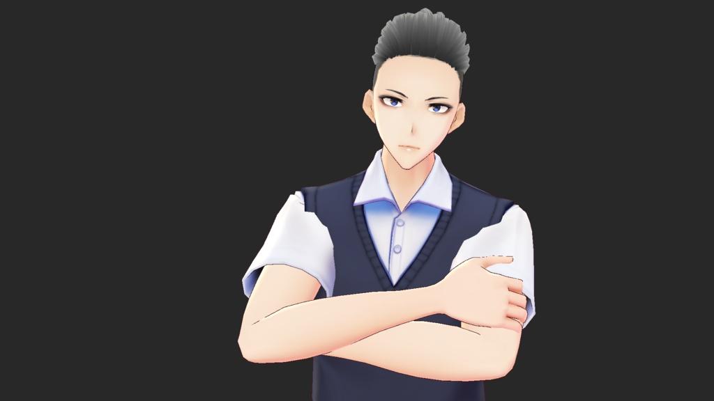 【VRoidモデル】モヒカンの男の子【データ販売】