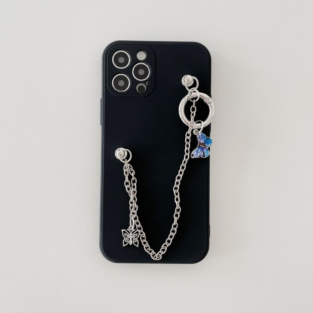 2匹の蝶のiPhoneスマートフォンケース
