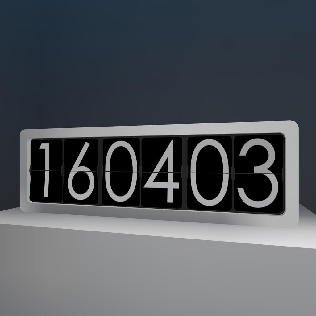 時計 パタパタ