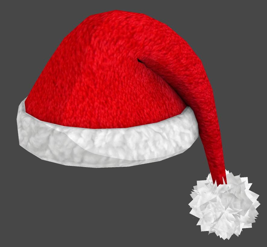 VRC向け サンタ帽子