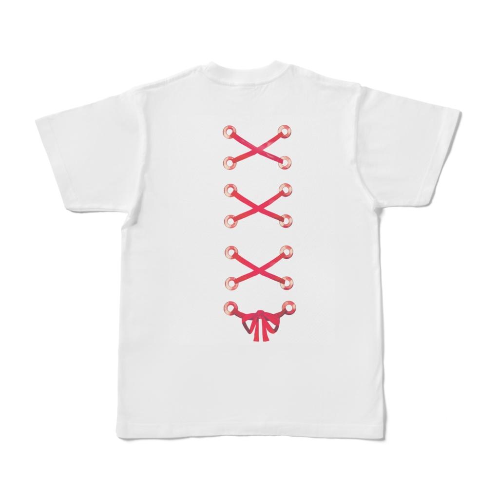 リボンバックデザインTシャツ
