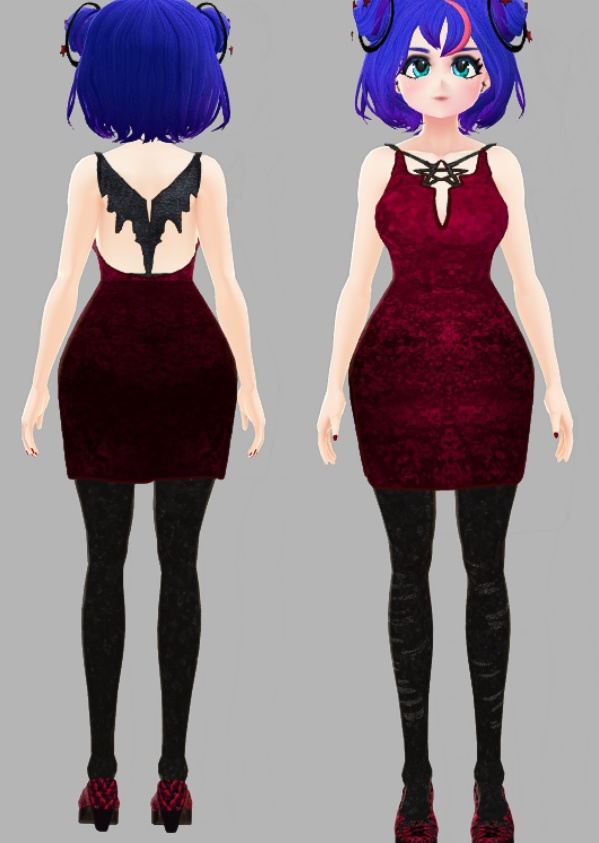 """""""Vampy Girl"""" Sexy Vroid Coord"""