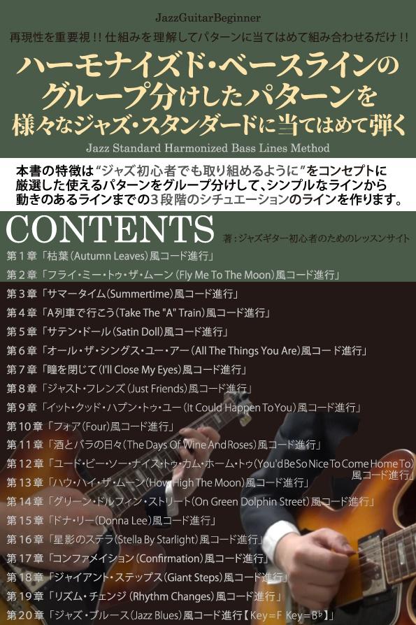 【無料版】ハーモナイズド・ベースラインのグループ分けしたパターンを様々なジャズスタンダードに当てはめて弾く