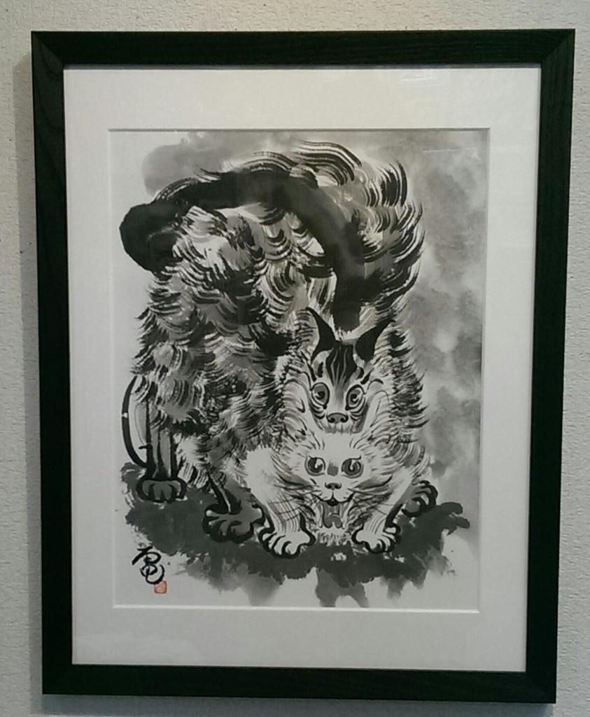 交尾【猫の墨絵 原画】