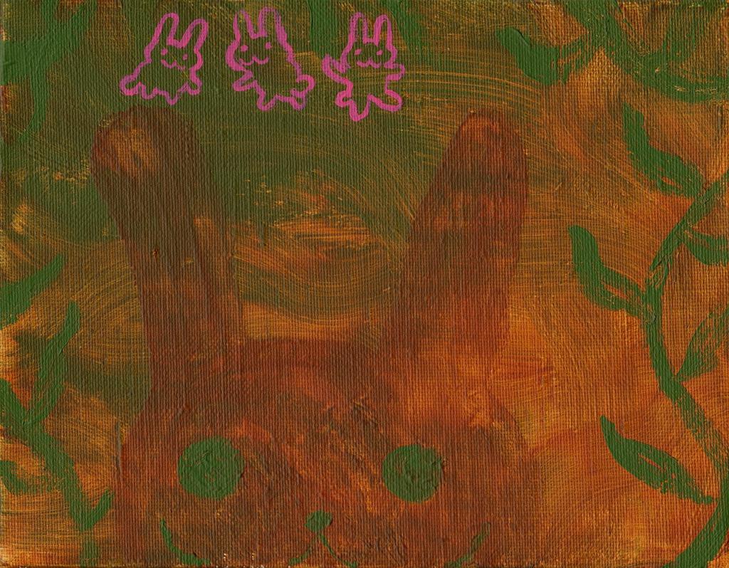 【絵画】藪の中のうさぎ
