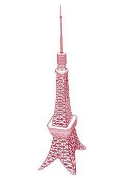 東京タワー(コミスタ/ベクター線画)