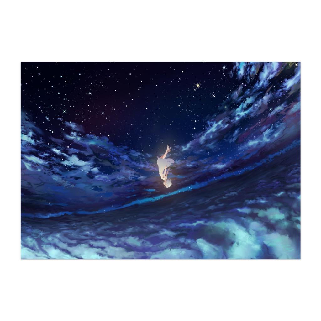 アスノヨゾラ哨戒班イラストポスター(夜)