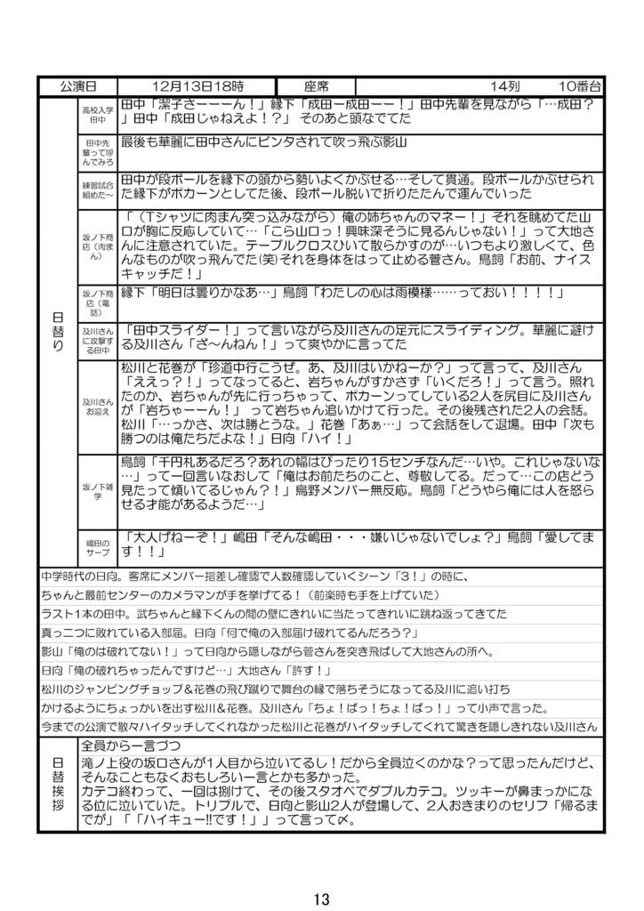 ハイステレポ本(初演)