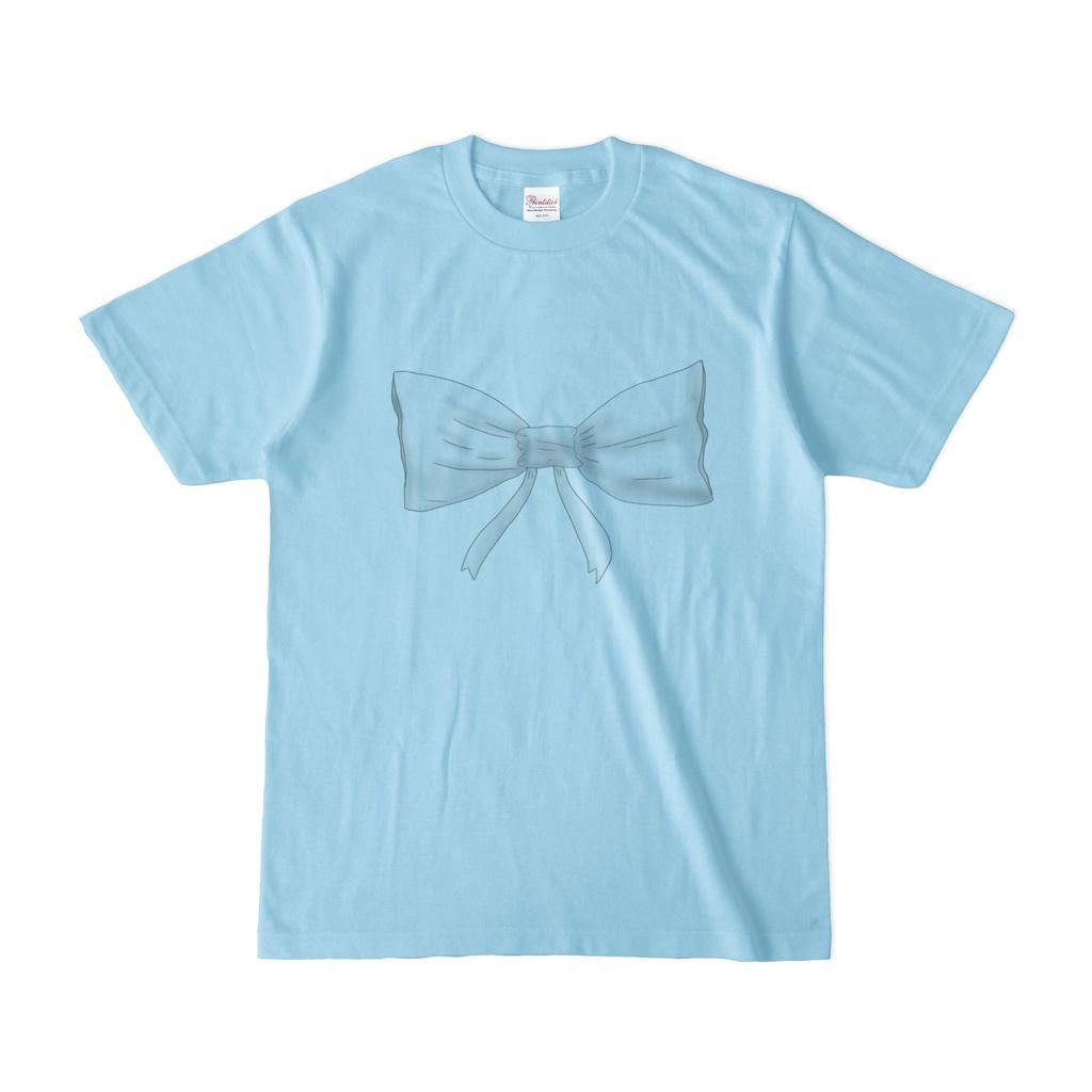 リボン付きシンプルTシャツ