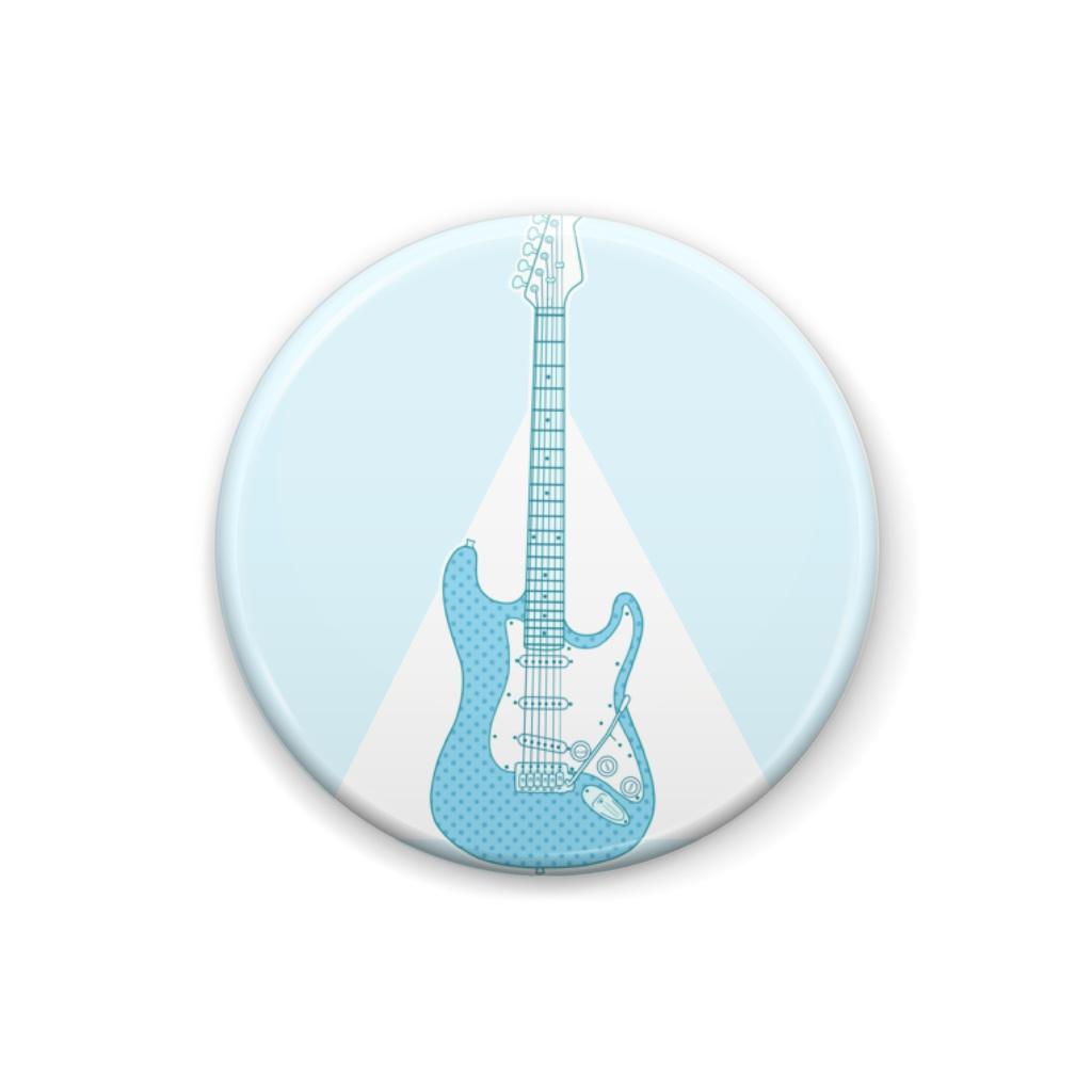 水色ギター。