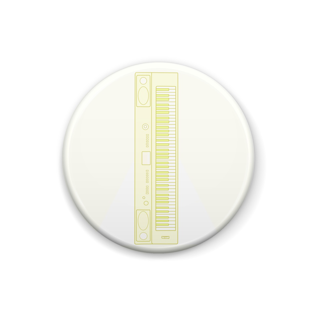 黄色キーボード。