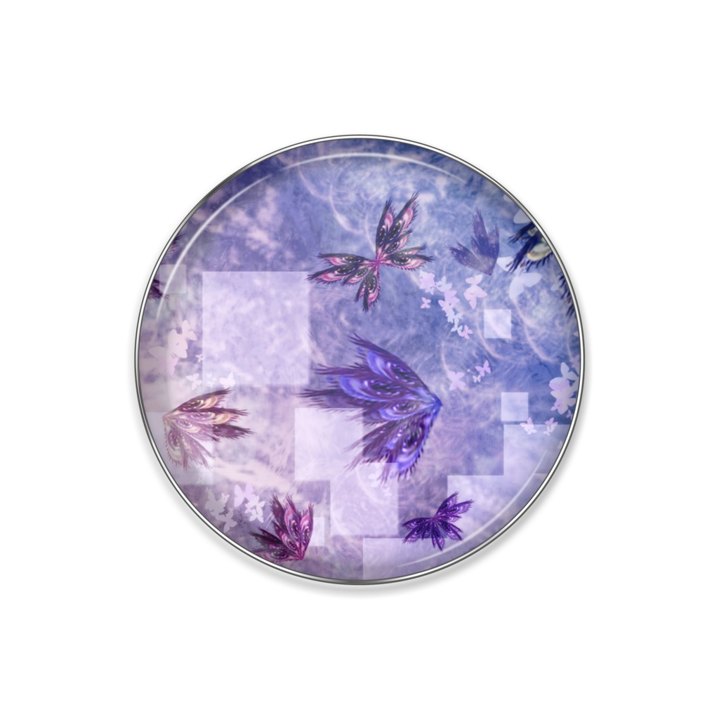 ピンバッジ[紫蝶]