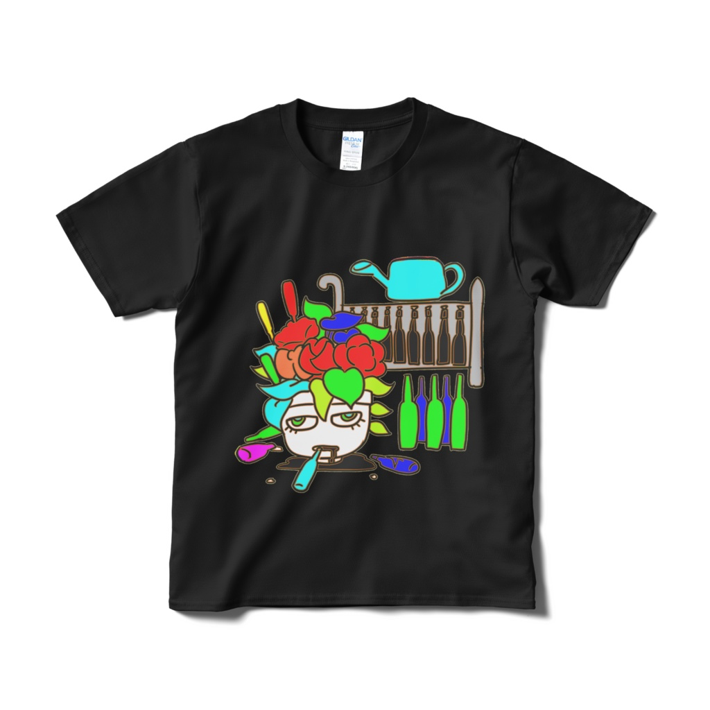 野菜たっぷりTシャツ黒
