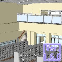 3D 学校 玄関 昇降口(クリスタ1.6.0~・コミスタ用)