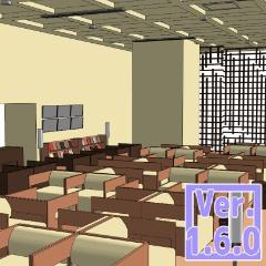 3D ラウンジ(クリスタ1.6.0~・コミスタ用)空港 ホテル 読書