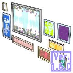 3D 壁飾り 額縁(クリスタ1.6.0~・コミスタ用) ポスター