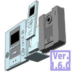 3D 玄関モニター チャイム ドアホン(クリスタ1.6.0~・コミスタ用)