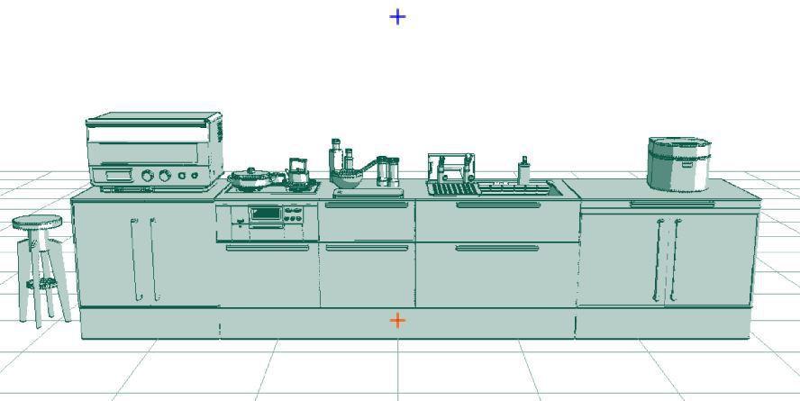 3D システムキッチン(コミスタ用) 台所