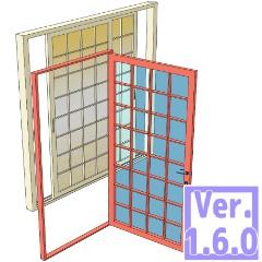 3D 汎用ドア 引き戸 窓(クリスタ1.6.0~・コミスタ用)