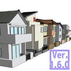 3D 住宅街(クリスタ1.6.0~用・コミスタ用)