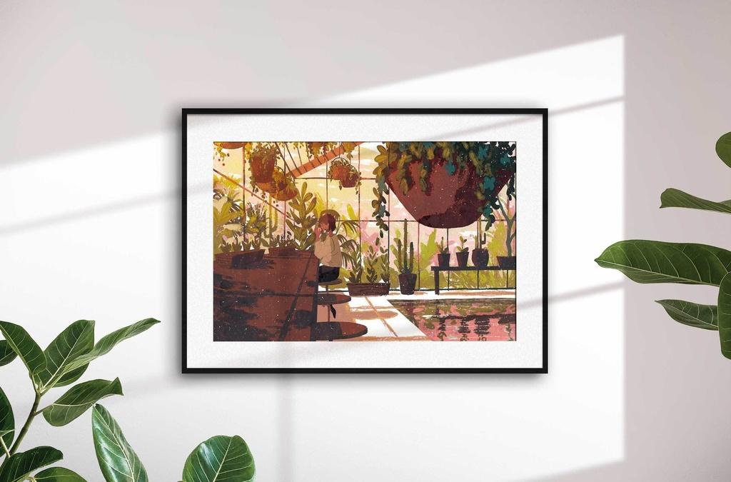 A3ポスター「天文台の隣、植物園の中の小さなお店」