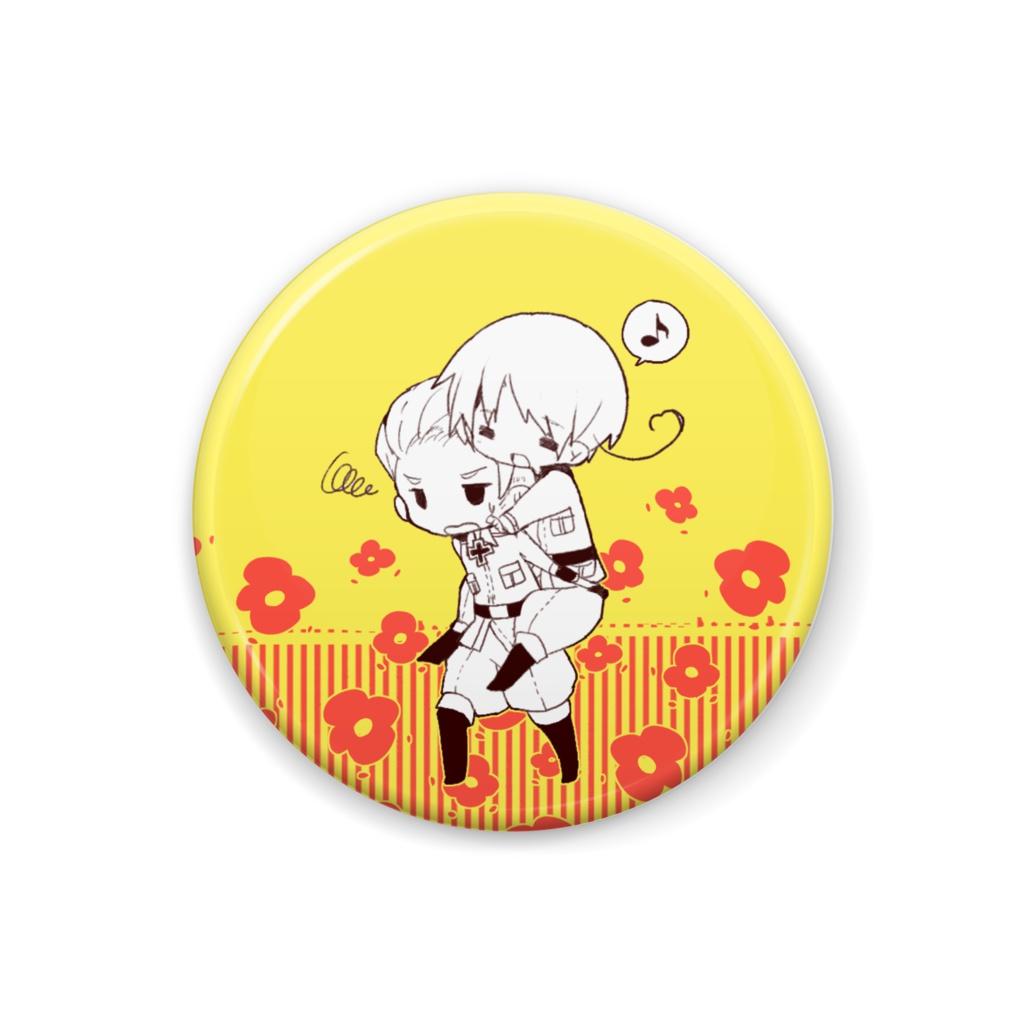 【缶バッジ】お花夫婦(ルートヴィッヒ&フェリシアーノ)