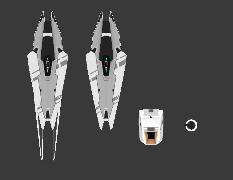 """複合兵装シールド""""EMSS-01A"""" + ブースター・ユニット"""