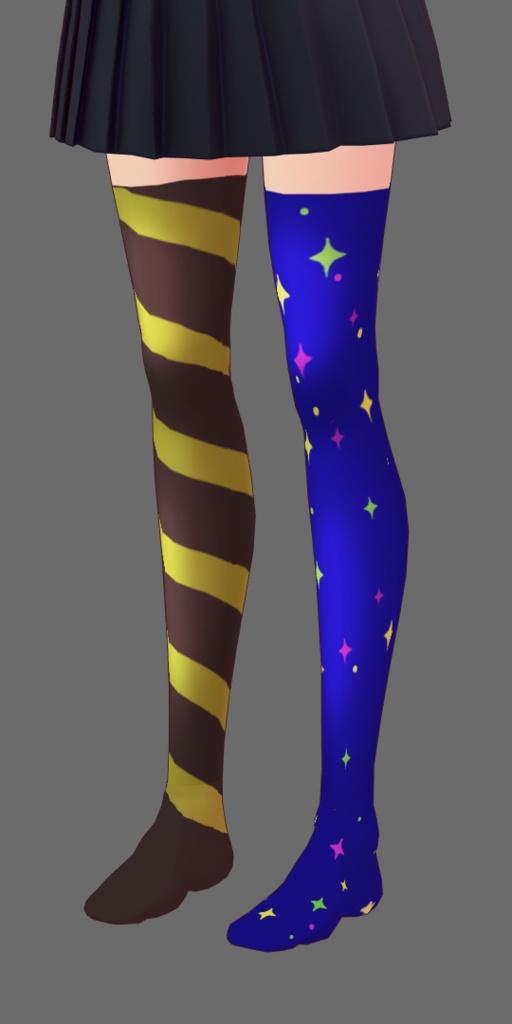 【VRoidテクスチャ】毛玉さん用 素敵な靴下