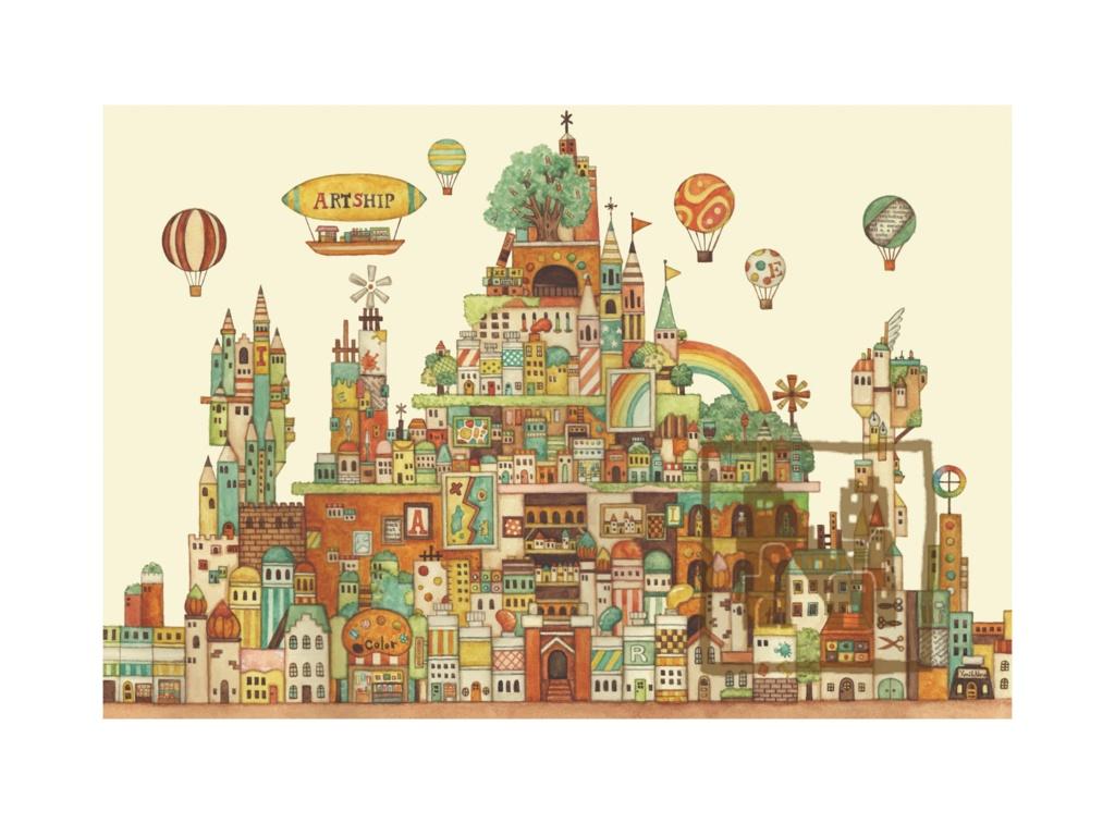 ポストカード4枚セット5「画材の王国」