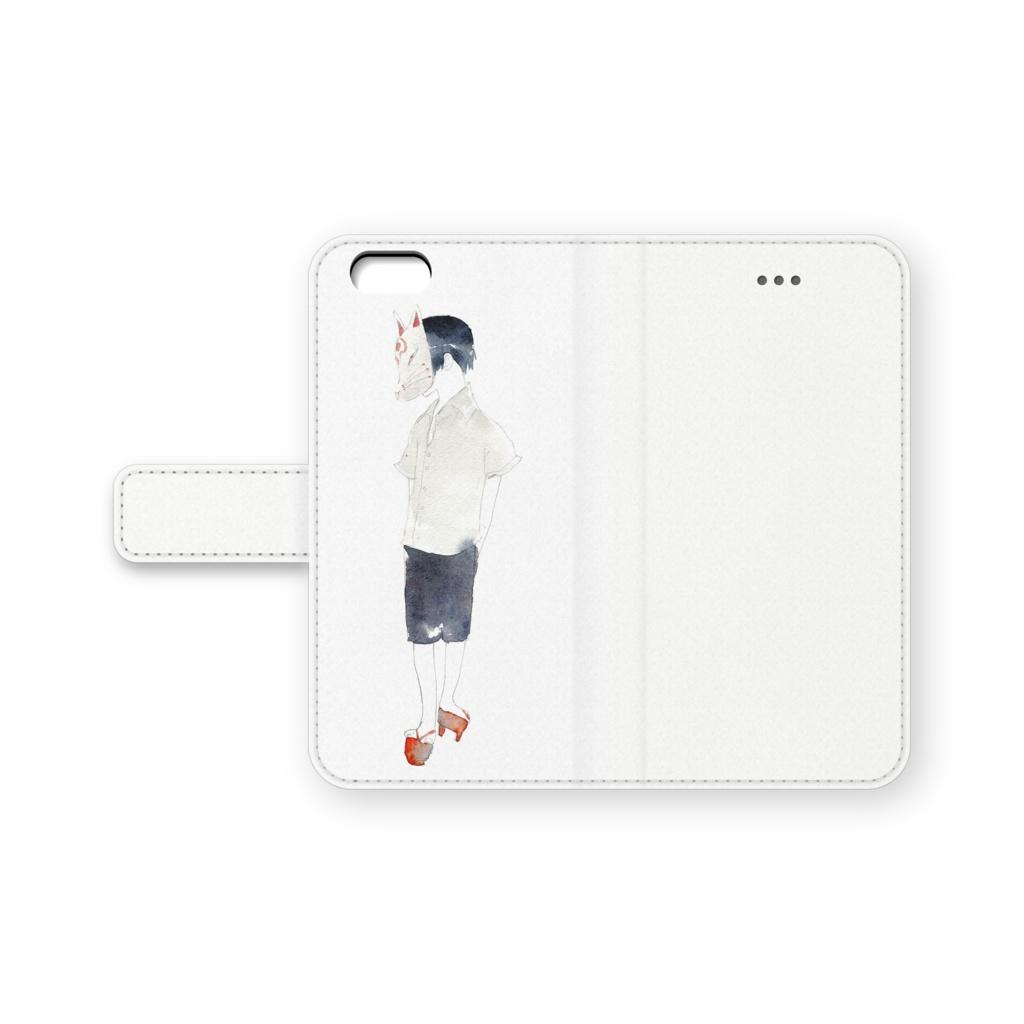 「狐」手帳型iPhoneケース