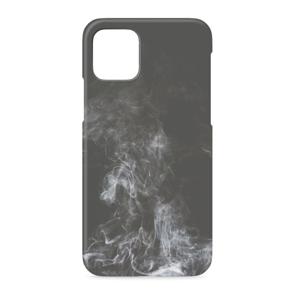 黒の煙 iPhoneケース
