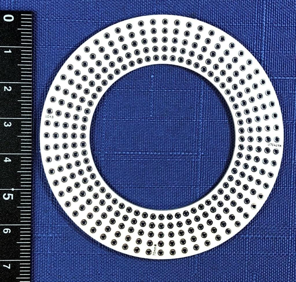 電子工作用ユニバーサル基板 直径70mmドーナツ型