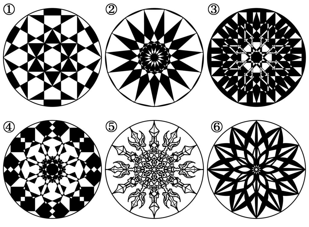 ロゴ・家紋風デザイン30個セット