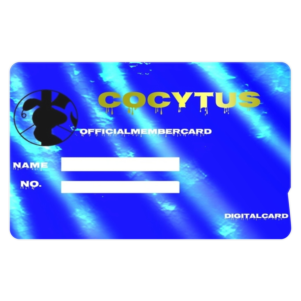 Cocytusステッカー型memberCardblue