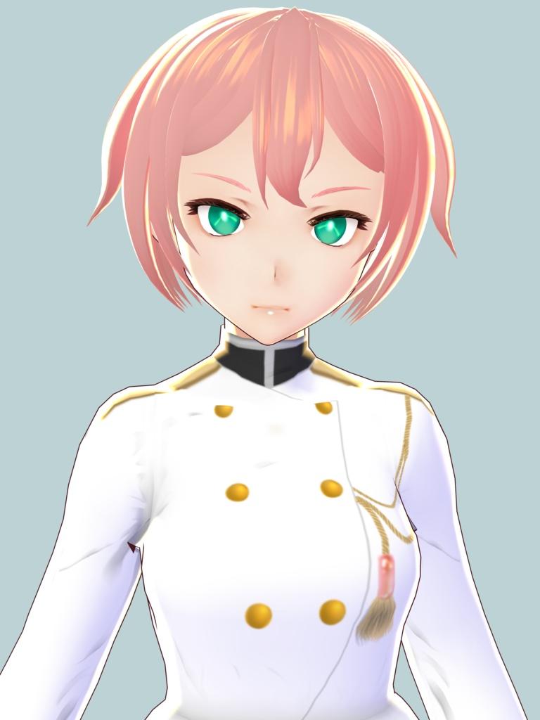 【VRoid】海軍風ツーピース