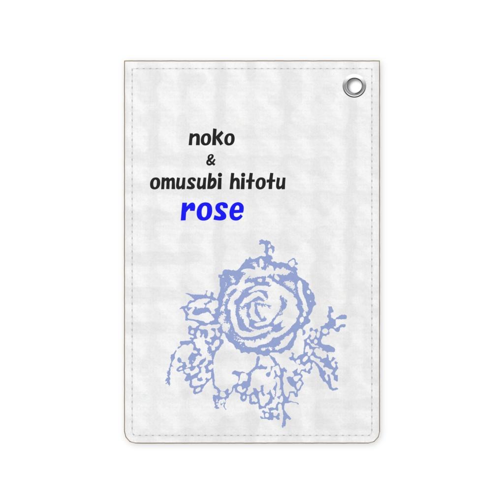 青い薔薇 ※版画効果・写真加工・縦