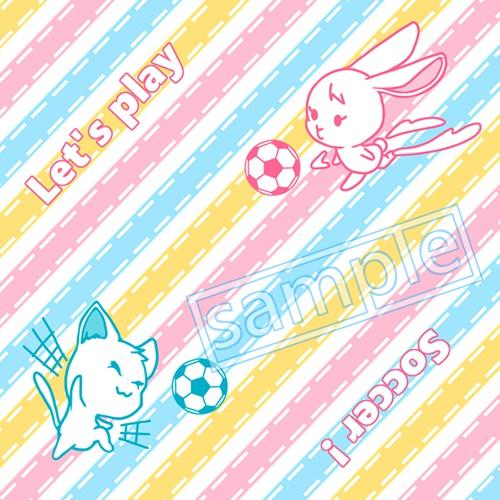 ネコ&ウサギの眼鏡拭き【狩屋&霧野イメージ】