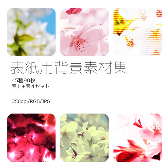 表紙用背景素材 桜04
